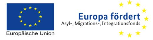 """Logo der Europäischen Union und von """"Europa fördert"""""""